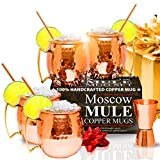 Moscow Mule Copper Mugs - Set of 4 - 100% HANDCRAFTED - Pure Solid Copper ...